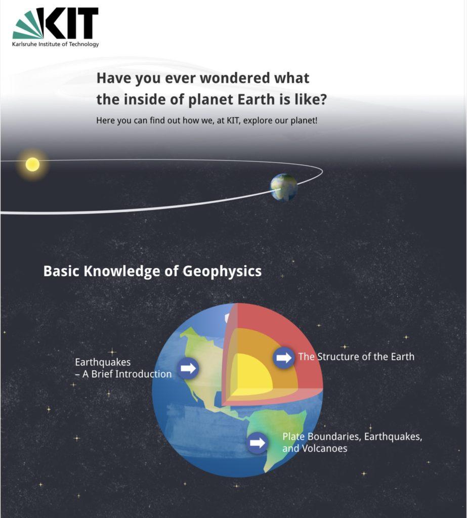 Visuelle Zusammenfassung des Brückenkurses Geophysik